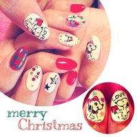 #Nailbook #クリスマス #ハンド #キャラクター #ホワイト #ジェル #vipkari #ネイルブック