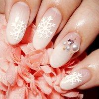 結晶ネイル♪♪ #冬 #ハンド #グラデーション #ホワイト #ジェル #yuki_ma #ネイルブック