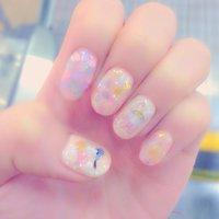 キラキラネイル☆デイジー&ドナルド☆ #ハンド #ホログラム #ピンク #ジェル #hirosamadaisuki #ネイルブック