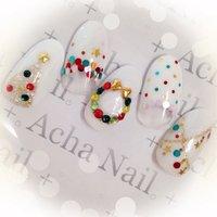 ホワイトクリスマス♡ http://ameblo.jp/acha-nail/ #クリスマス #ハンド #ホログラム #ホワイト #ジェル #ネイルチップ #AchaNail 池袋ネイルサロン #ネイルブック