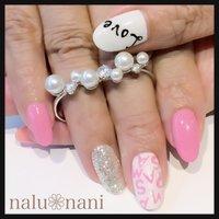 よーく見ると、『SMAP』と描いてます♡ #ハンド #ピンク #ジェル #お客様 #minami_0218 #ネイルブック