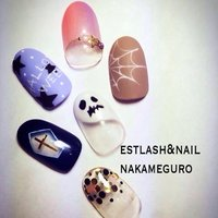 #Nailbook #ハロウィン #ハンド #ジェル #estnail_nakaneguro #ネイルブック