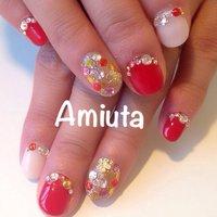 #Nailbook #夏 #ハンド #ワンカラー #レッド #ジェル #お客様 #Amiuta #ネイルブック