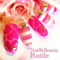 夏LOVEネイル!! #夏 #ハンド #ハート #ピンク #ネイルチップ #Nail&BeautyRutile♡Risa #ネイルブック