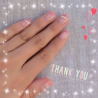 #Nailbook #ハンド #変形フレンチ #ピンク #ジェル #お客様 #Sachi_watana #ネイルブック