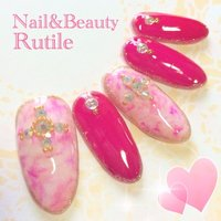 #Nailbook #夏 #ハンド #タイダイ #ピンク #ネイルチップ #Nail&BeautyRutile♡Risa #ネイルブック