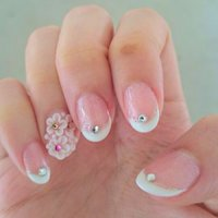 Bridal nails #Liyun Toh #ネイルブック