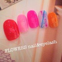 ジューシーグロスネイル♡ #ラメ #ピンク #ネイルチップ #flowers_ayako #ネイルブック