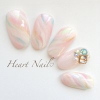 http://s.ameblo.jp/heart-nail/ Heart Nail #春 #ハンド #シースルー #ピンク #ネイルチップ #heartnail #ネイルブック