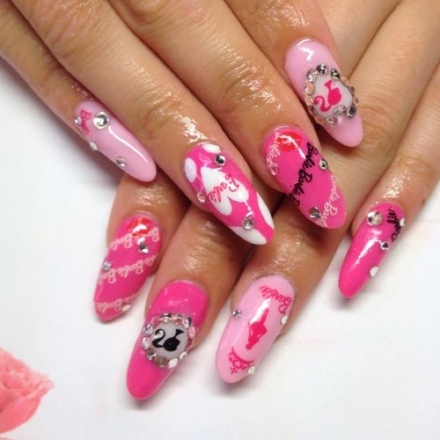 #Nailbook #ピンク #ネイルシール #スカルプチュア #お客様 #Nanan Sato #ネイルブック