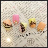名古屋栄♡Nailist〜avenir〜 夏に先駆け♡ www.nailist.co.jp #夏 #フット #エスニック #ピンク #ジェル #ネイルチップ #Nailist_avenir #ネイルブック