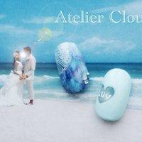 リゾートウェディングへのアプローチ♪ サムシングブルーで幸せいっぱいに… #ブライダル #ハンド #シースルー #ブルー #ジェル #ネイルチップ #アトリエクルエ☆AtelierClouer #ネイルブック