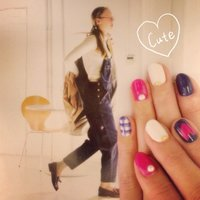 #Nailbook #チェック #ピンク #Minami Nakamura #ネイルブック
