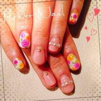 #Nailbook #フラワー #ピンク #Minami Nakamura #ネイルブック