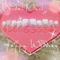 #Nailbook #ブライダル #変形フレンチ #ホワイト #Minami Nakamura #ネイルブック