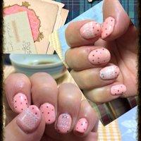 マカロンピンクにホロピンク水玉&レース✨春満開のいちごみたいなネイルに仕上がりました☆ #パーティー #ハンド #ドット #ピンク #ジェル #セルフネイル #ayako_pingu #ネイルブック