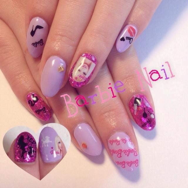 Barbie nail❥❥ #ピンク #ネイルシール #ハンド #ジェルネイル #Aya Nacamura #ネイルブック