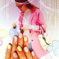 #Nailbook #チェック #イエロー #Minami Nakamura #ネイルブック