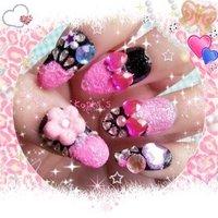 Gyaru nails! *^* #ピンク #お客様 #HADHEK #ネイルブック