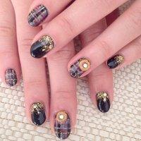 www.ameblo.jp/naeyo  http://instagram.com/YOGIISSO #お正月 #ハンド #チェック #ブラック #ジェル #お客様 #ebis_nailsalon_lian #ネイルブック