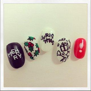 CHRISTMAS nail #クリスマス #ハンド #ホワイト #セルフネイル #9231_s #ネイルブック