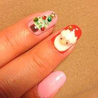 キャルムさんのサンタが可愛いのでマネっこしちゃいました。 クリスマスネイル!! #ハンド #ピンク #ジェル #セルフネイル #kou_718 #ネイルブック