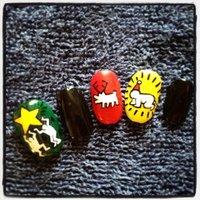 christmas Keith Haring ver. #クリスマス #ハンド #カラフル #セルフネイル #9231_s #ネイルブック