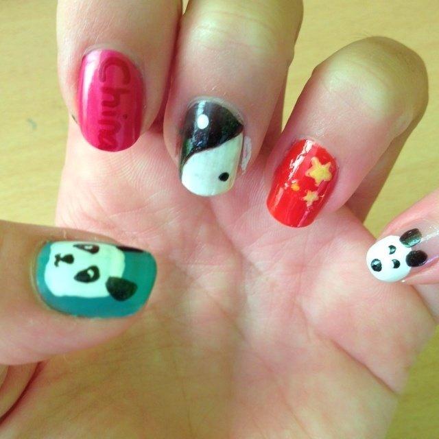 China !!!! #ハンド #セルフネイル #NailLudiMacarons #ネイルブック