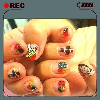 AUTUM barbie nail #秋 #ハンド #キャラクター #カラフル #ジェル #お客様 #9231_s #ネイルブック