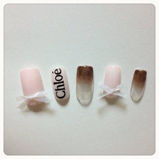 chloe' #デート #ハンド #グラデーション #ピンク #ネイルチップ #9231_s #ネイルブック