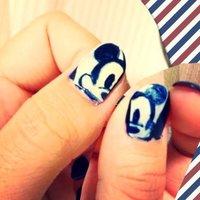 #Nailbook #ハンド #キャラクター #ブルー #マニキュア #セルフネイル #ako_z #ネイルブック