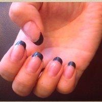 ネイビーラメ フレンチ (マニュキュア) #ブルー #Narumi0913 #ネイルブック