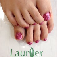 ご予約お待ちしております。 07064769266 laurier-nail.com #デート #フット #ラメ #ピンク #ジェル #お客様 #laurier #ネイルブック