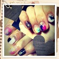 #Nailbook #パーティー #ハンド #変形フレンチ #ジェル #セルフネイル #Aimi Akiyama #ネイルブック