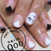 雑誌のデザインを参考にペイントアート♡ #nailsQoo #ネイルブック