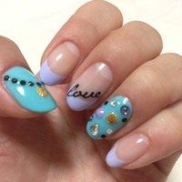 So cute!! #夏 #ハンド #パープル #ジェル #セルフネイル #NailSalonMermaidia #ネイルブック