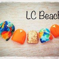LC Beach♡ 渋谷駅から徒歩5分のプライベートサロンです♡ アメブロもチェック♪ #夏 #フット #マーブル #オレンジ #ジェル #lc_beach65 #ネイルブック