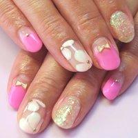 プルメリアネイル #ピンク #お客様 #Nanae Kakoi #ネイルブック