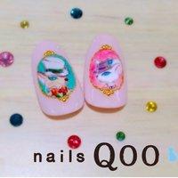 耳をすませば♪  聖蹟桜ヶ丘徒歩5分♪ 駐車場完備☆nails Qom #ハンド #キャラクター #ピンク #nailsQoo #ネイルブック