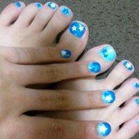 #Nailbook #星 #ブルー #セルフネイル #Aimi Akiyama #ネイルブック
