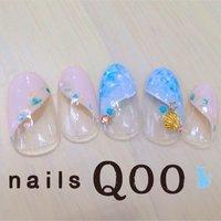 海♪ #夏 #マリン #ブルー #nailsQoo #ネイルブック