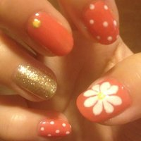 ❀マーガレットネイル❀ ドットも組み合わせて可愛いネイルに♡ #ハンド #フラワー #ピンク #マニキュア #セルフネイル #Ayumi Ikeda #ネイルブック
