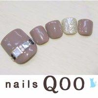 聖蹟桜ヶ丘のネイルサロン♪ nails Qoo 駐車場完備☆  #夏 #フット #グレー #nailsQoo #ネイルブック
