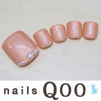 聖蹟桜ヶ丘のネイルサロン♪ nails Qoo 駐車場完備☆  #夏 #フット #ベージュ #nailsQoo #ネイルブック