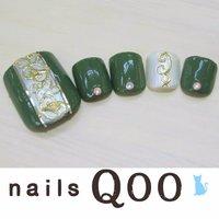 聖蹟桜ヶ丘のネイルサロン♪ nails Qoo 駐車場完備☆  #夏 #フット #グリーン #nailsQoo #ネイルブック