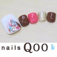 聖蹟桜ヶ丘のネイルサロン♪ nails Qoo 駐車場完備☆  #夏 #フット #nailsQoo #ネイルブック