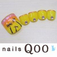 聖蹟桜ヶ丘のネイルサロン♪ nails Qoo 駐車場完備☆  #夏 #フット #イエロー #nailsQoo #ネイルブック