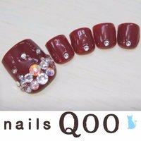 聖蹟桜ヶ丘のネイルサロン♪ nails Qoo 駐車場完備☆  #夏 #フット #レッド #nailsQoo #ネイルブック