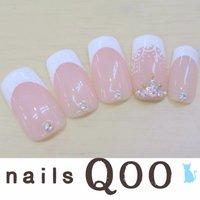 聖蹟桜ヶ丘のネイルサロン♪ nails Qoo 駐車場完備☆  #ブライダル #ハンド #レース #ホワイト #nailsQoo #ネイルブック