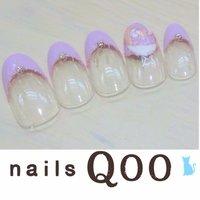 聖蹟桜ヶ丘のネイルサロン♪ nails Qoo 駐車場完備☆  #ブライダル #ハンド #フレンチ #パープル #nailsQoo #ネイルブック